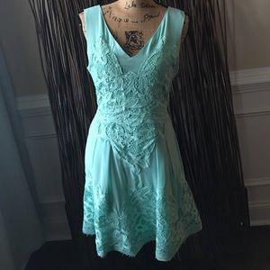 Anthropology Skies Are Blue Dress mint Size M